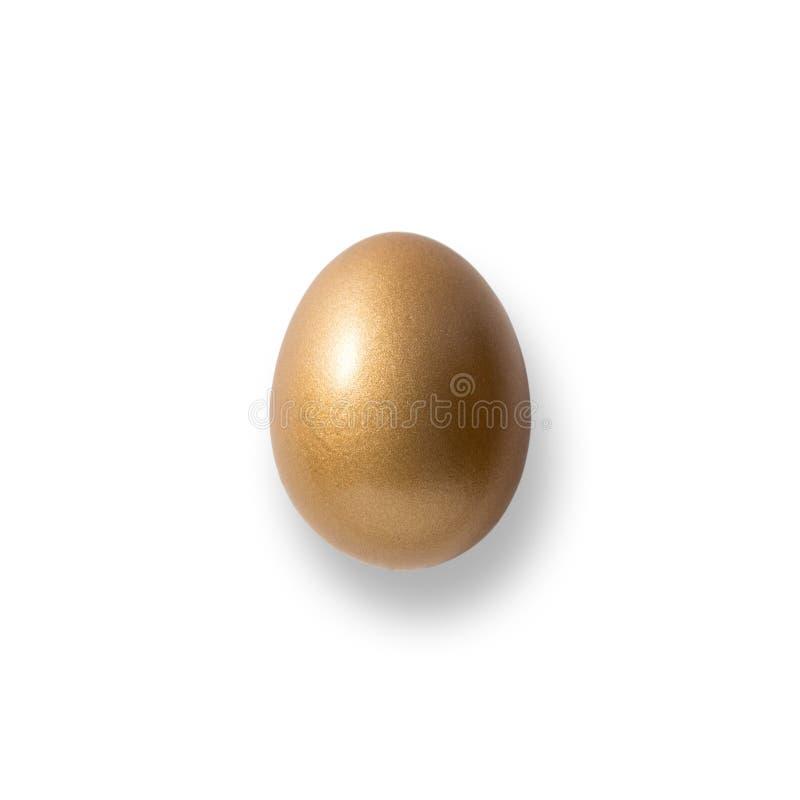 Huevo de oro de Pascua aislado fotos de archivo libres de regalías