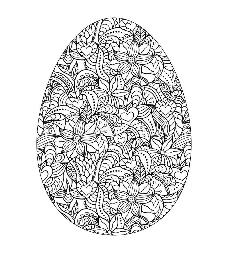 Huevo de Pascua abstracto stock de ilustración