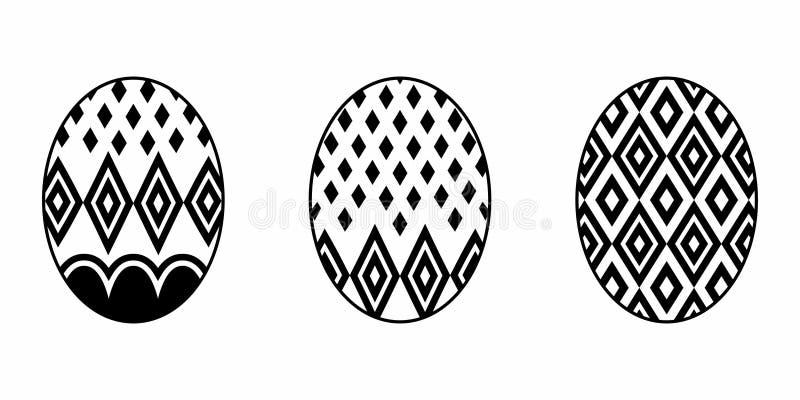 Huevo de Pascua aislado ilustración del vector