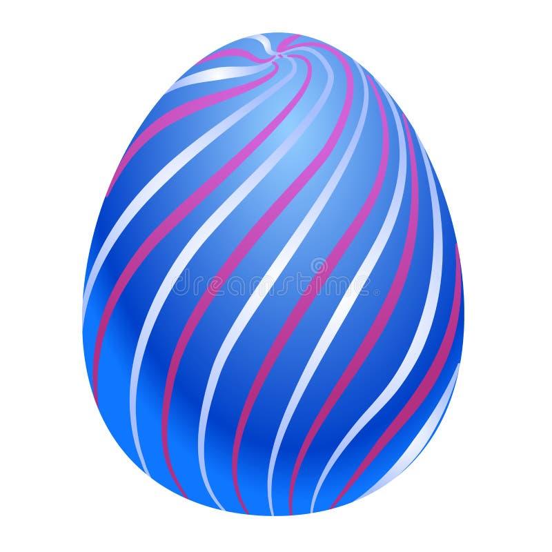 Huevo de Pascua coloreado Ilustración del vector aislada en el fondo blanco Clipart para el diseño y las tarjetas del día de fies stock de ilustración