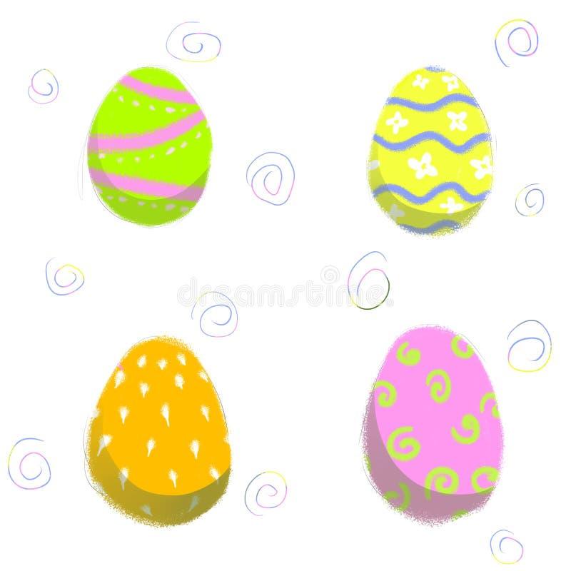 Huevo de Pascua con diversa textura ilustración del vector