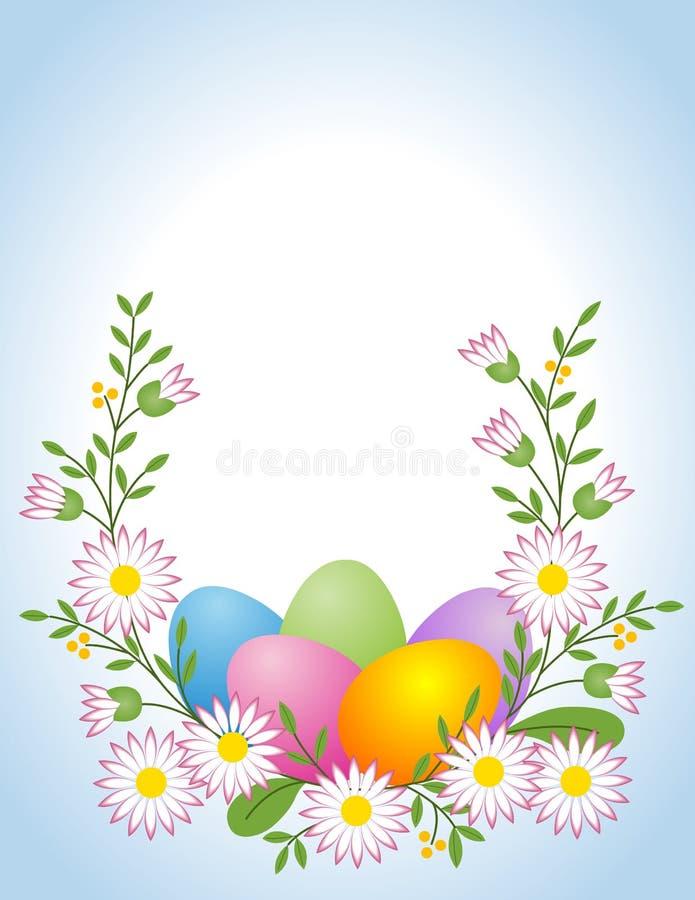 Huevo de Pascua con la margarita ilustración del vector