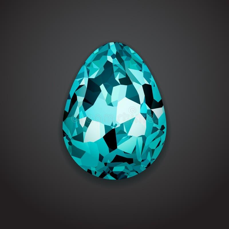 Huevo de Pascua cristalino creativo elegante, mofa del logotipo encima de la plantilla stock de ilustración