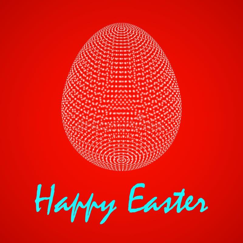 Huevo de Pascua de la abstracción del ejemplo del vector ilustración del vector