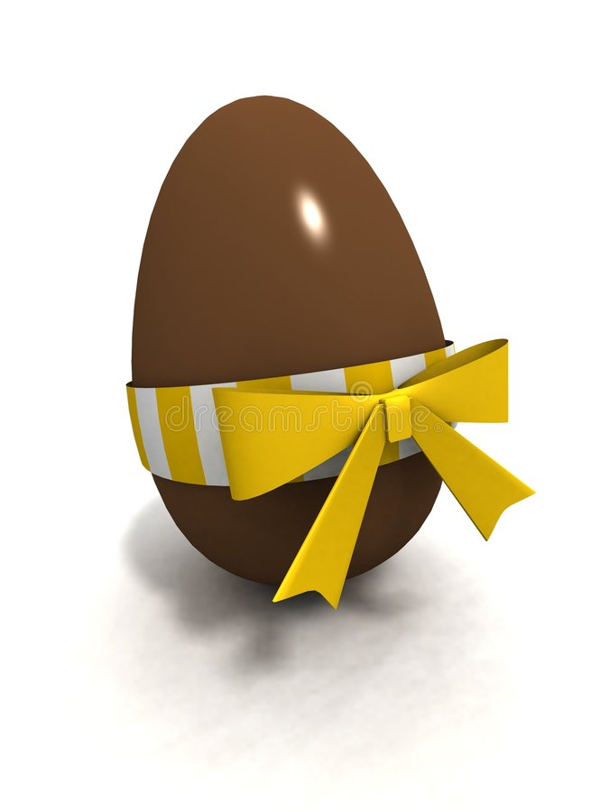 Huevo de Pascua del chocolate ilustración del vector