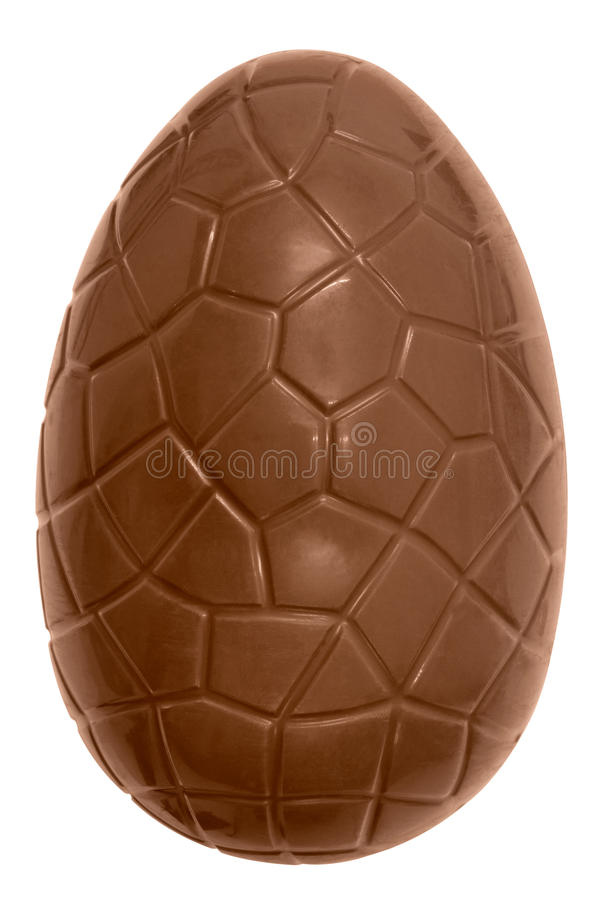 Huevo de Pascua del chocolate aislado imagen de archivo libre de regalías