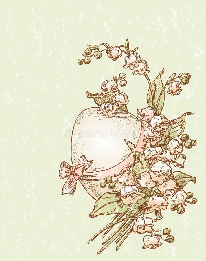 Huevo de Pascua del vintage stock de ilustración