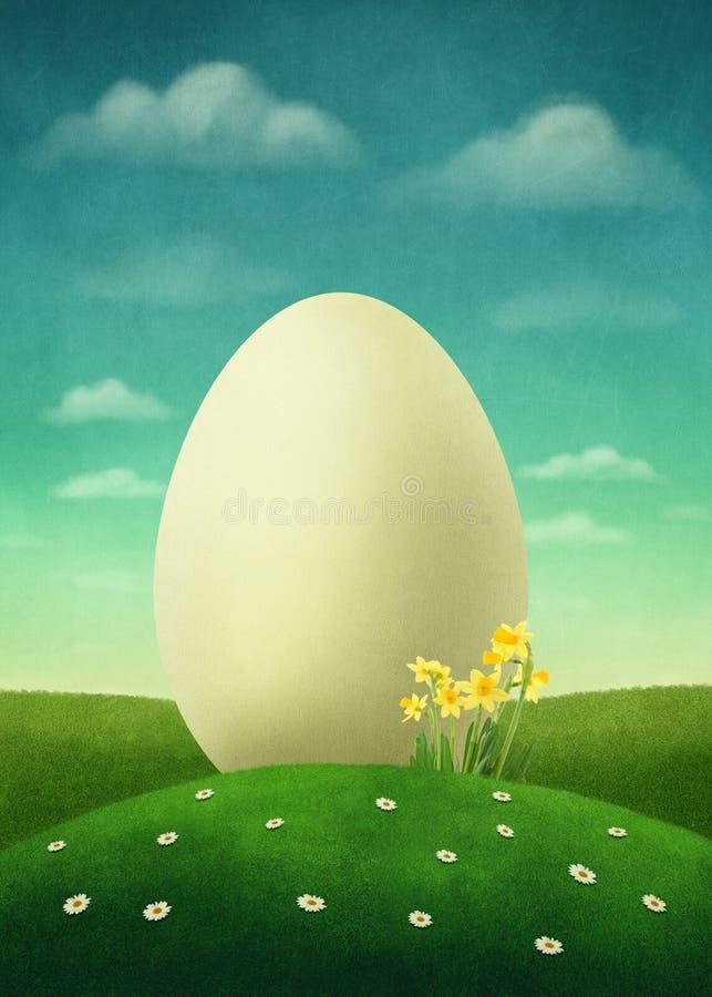 Huevo de Pascua en el campo foto de archivo libre de regalías