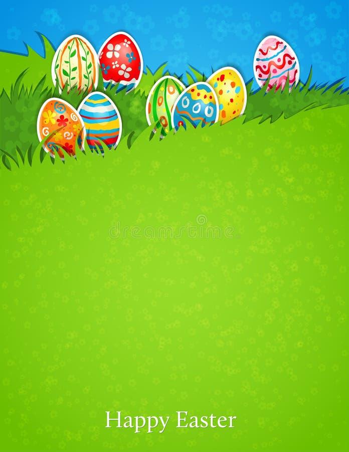 Huevo de Pascua en hierba stock de ilustración
