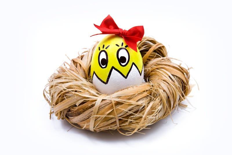 Huevo de Pascua en jerarquía fotografía de archivo