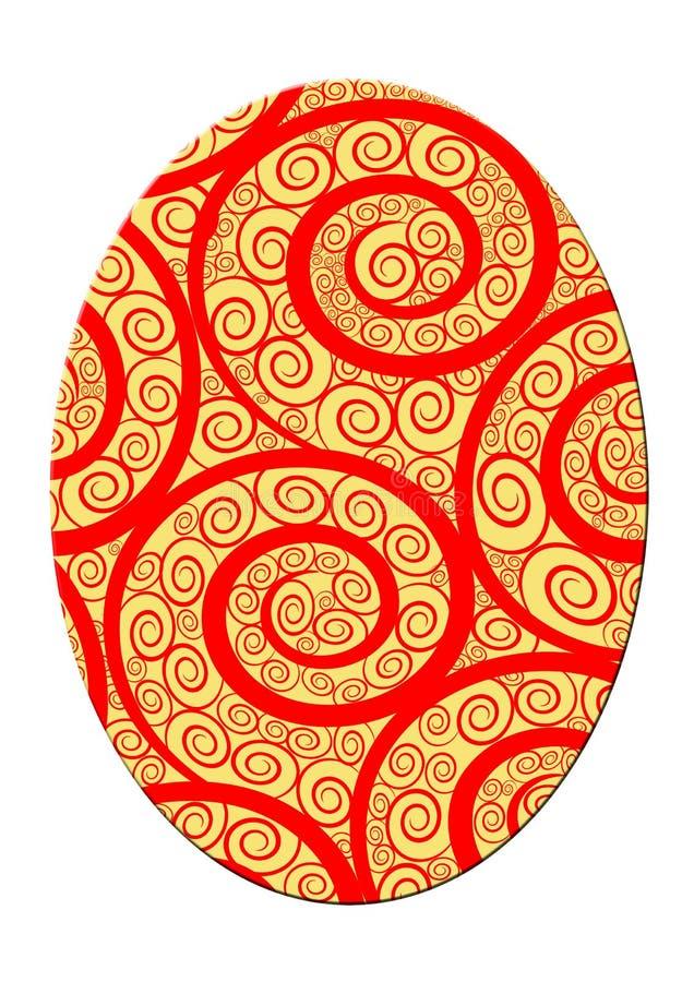 Huevo de Pascua espiral ornamental ilustración del vector