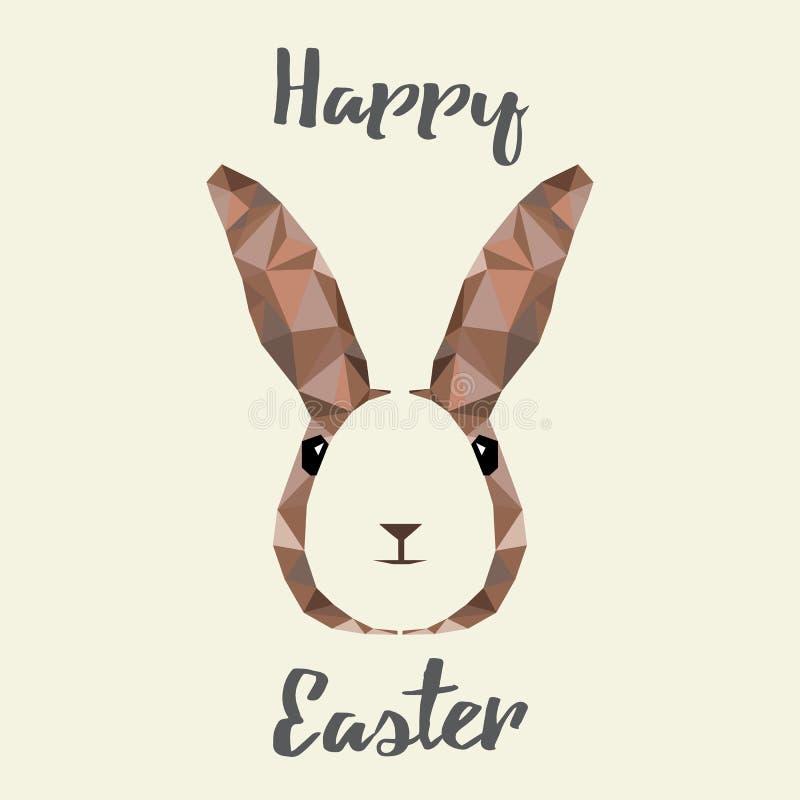 Huevo de Pascua feliz y tarjeta de felicitación polivinílica baja del conejito con el espacio negativo, ejemplo EPS 10 libre illustration