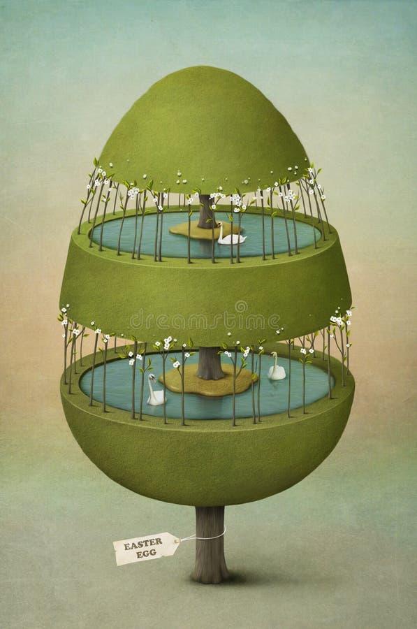 Huevo de Pascua hecho de árbol. libre illustration
