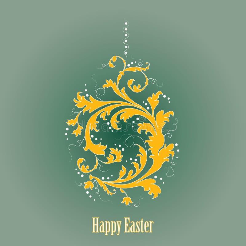 Huevo de Pascua ornamental stock de ilustración