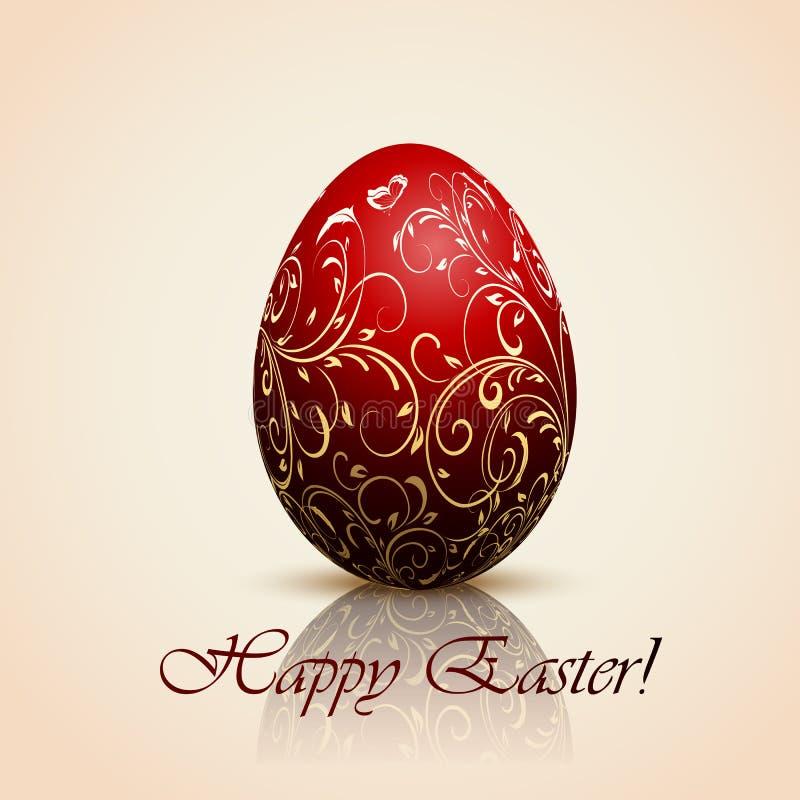 Huevo de Pascua decorativo rojo libre illustration