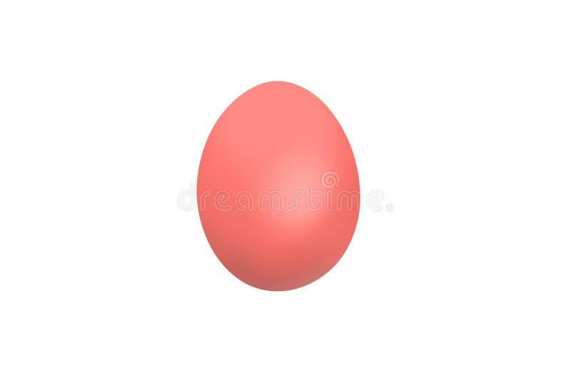 Huevo de Pascua rosado aislado en el fondo blanco fotografía de archivo libre de regalías