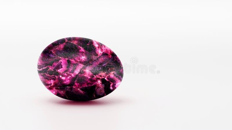 Huevo de rubíes en un fondo blanco fotografía de archivo libre de regalías