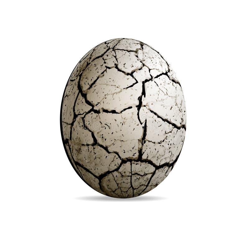 Huevo de un dinosaurio en un fondo blanco Vector realista ilustración del vector