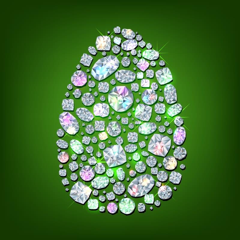 Huevo del diamante stock de ilustración
