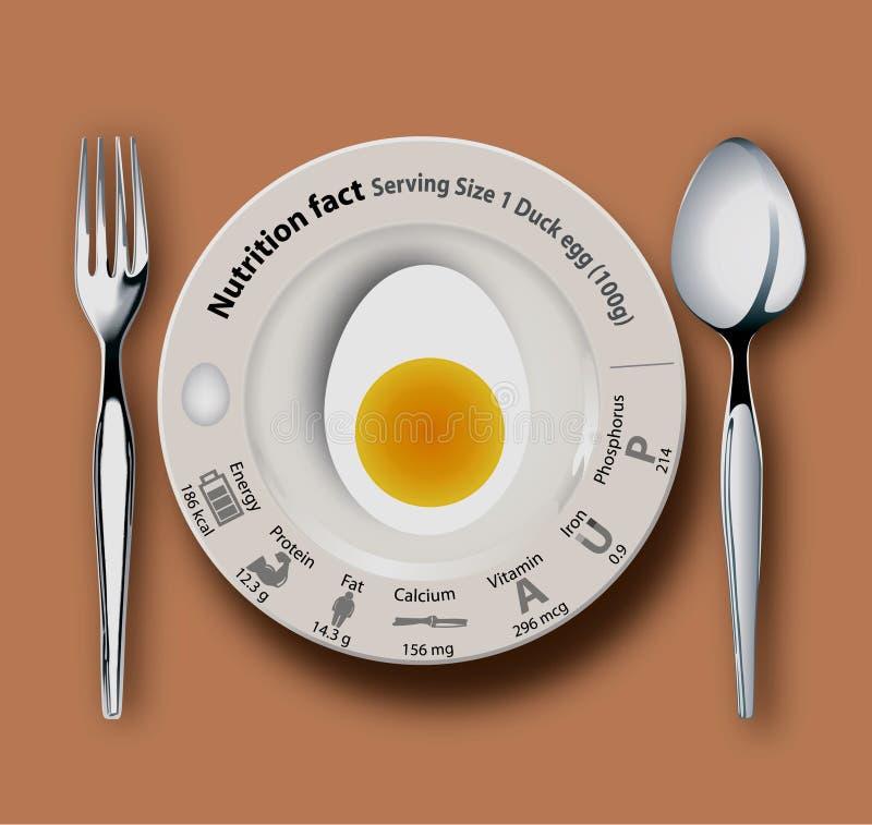 Huevo del pato del hecho de la nutrición libre illustration