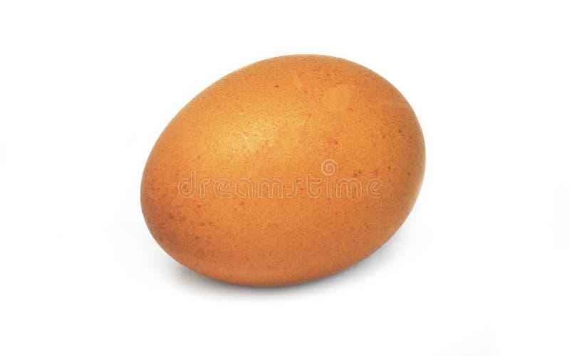 Huevo en el fondo blanco fotografía de archivo
