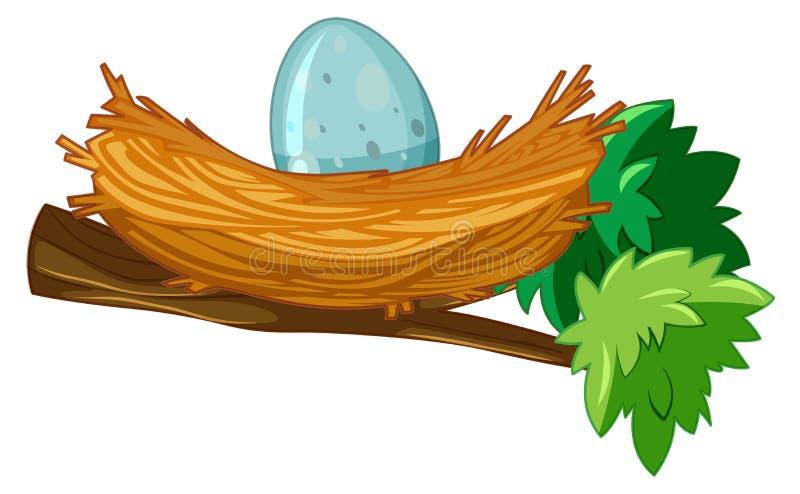 Huevo en rama de la jerarquía ilustración del vector