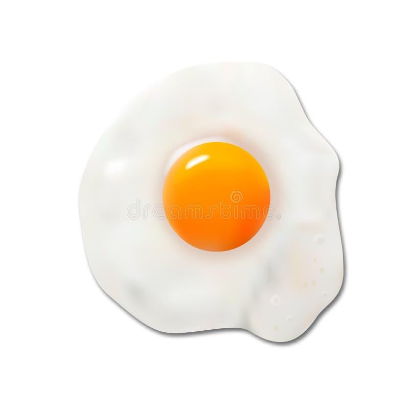Huevo frito, vector ilustración del vector