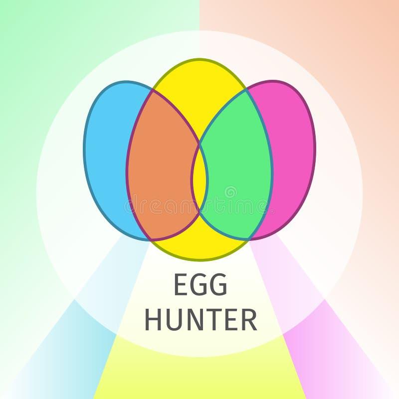Huevo Hunter Easter Flat Banner libre illustration