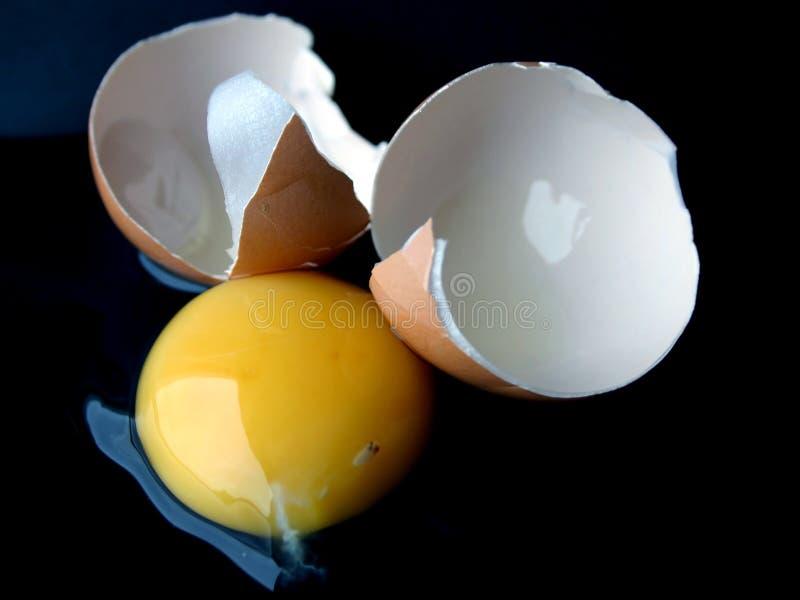 Huevo quebrado II imagen de archivo libre de regalías