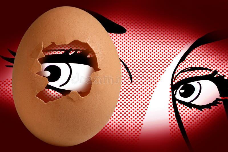Huevo y ojo foto de archivo libre de regalías