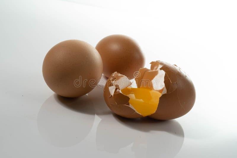 Huevos crudos orgánicos naturales caseros fotos de archivo
