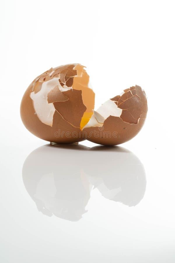 Huevos crudos orgánicos naturales caseros foto de archivo