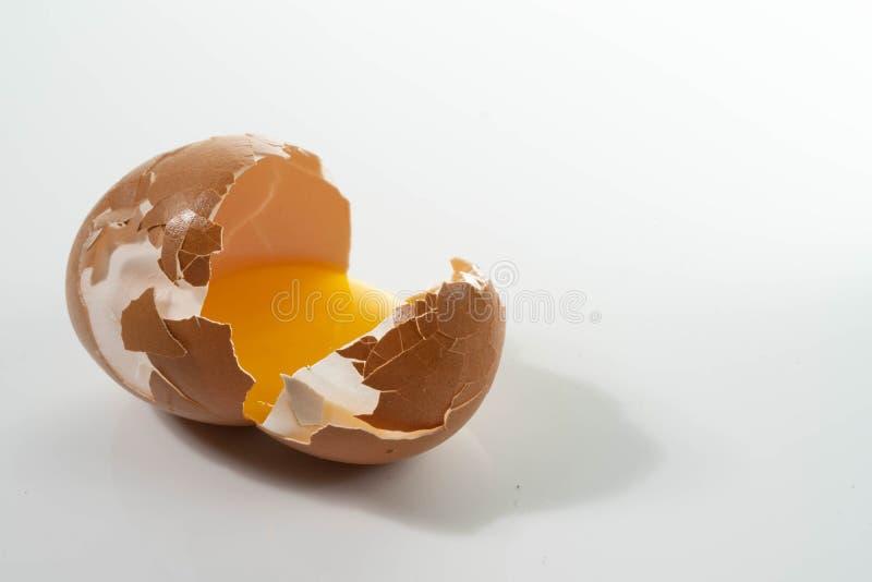 Huevos crudos orgánicos naturales caseros imágenes de archivo libres de regalías