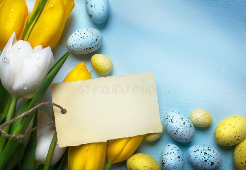 Huevos de Art Colorful Pascua Fondo con los huevos de Pascua imagen de archivo libre de regalías