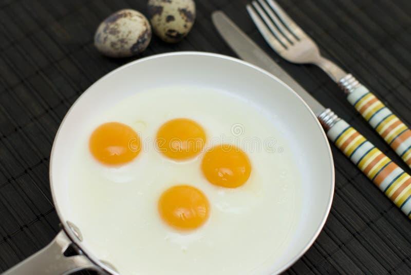 Huevos de codornices fritos imagen de archivo libre de regalías