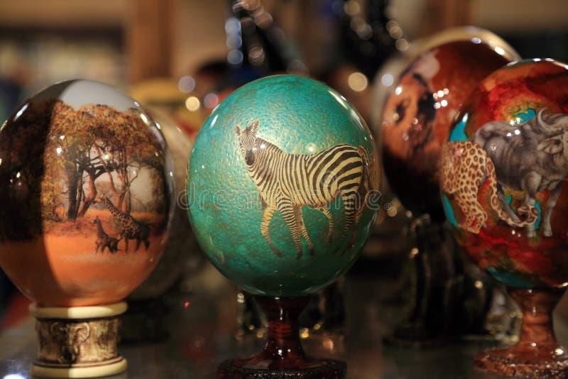 Huevos de la avestruz imagenes de archivo