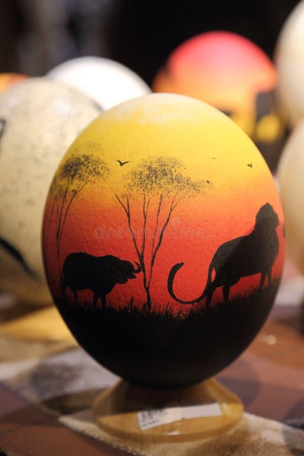 Huevos de la avestruz fotografía de archivo libre de regalías
