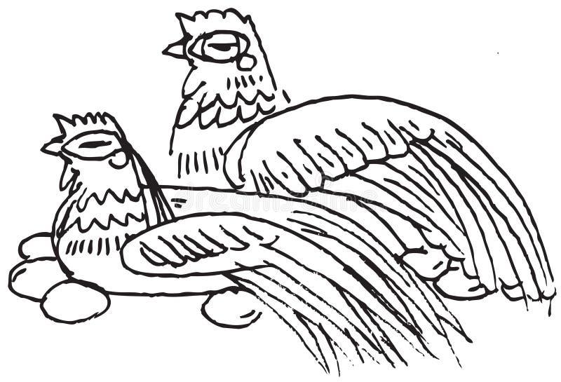Huevos de la endecha del pollo stock de ilustración