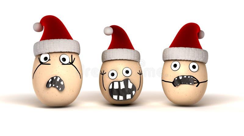 Huevos de la Navidad imagen de archivo