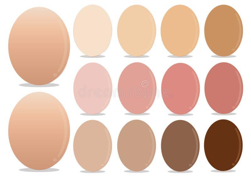Huevos de las decoraciones del color para el día de Pascua foto de archivo