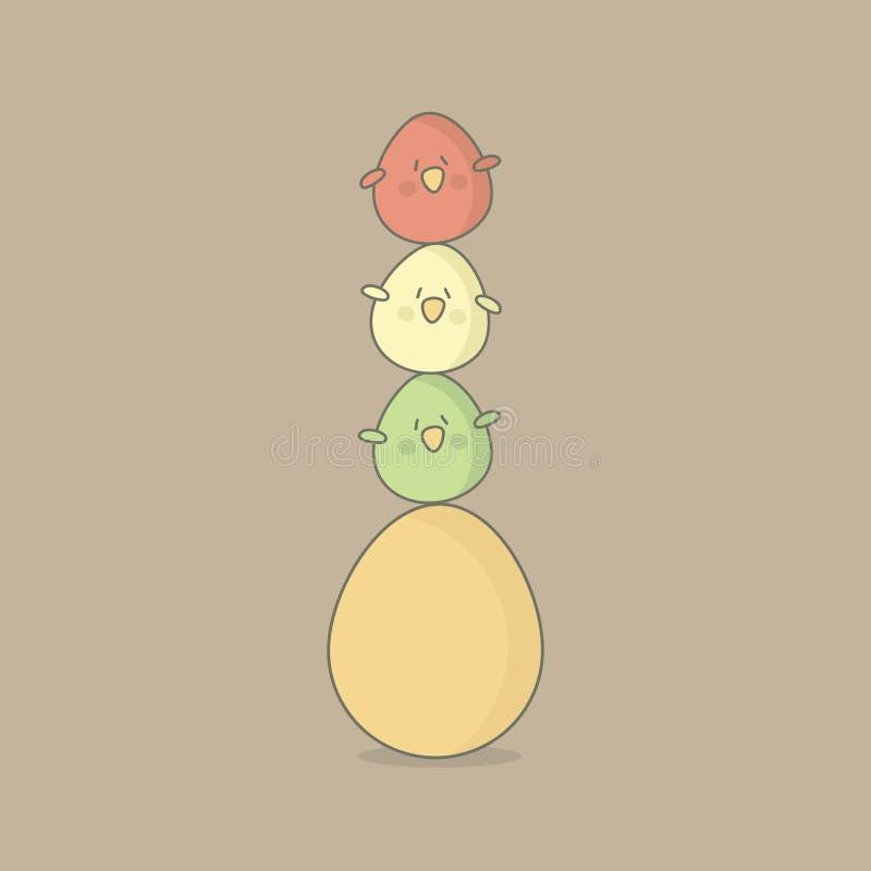 Huevos de los pájaros de Pascua stock de ilustración