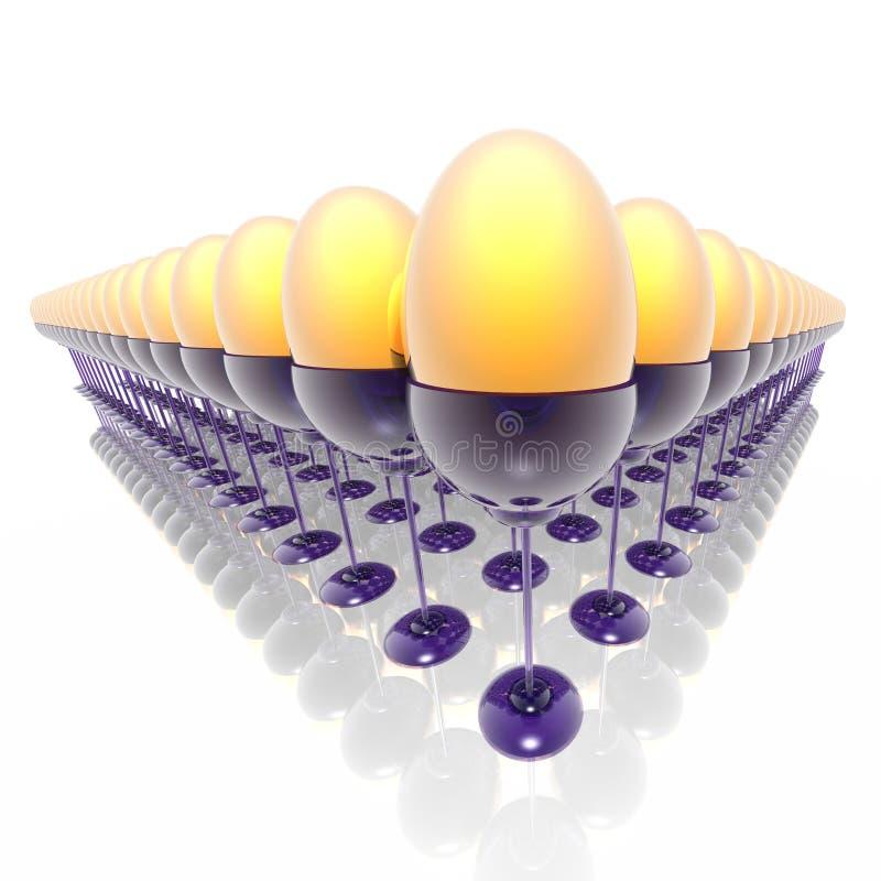 Download Huevos de Pascua stock de ilustración. Ilustración de pascua - 7289425
