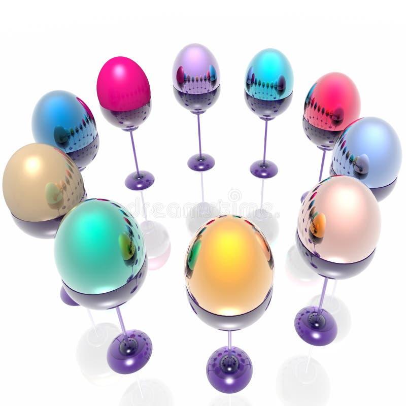 Download Huevos de Pascua stock de ilustración. Ilustración de coloreado - 7289549