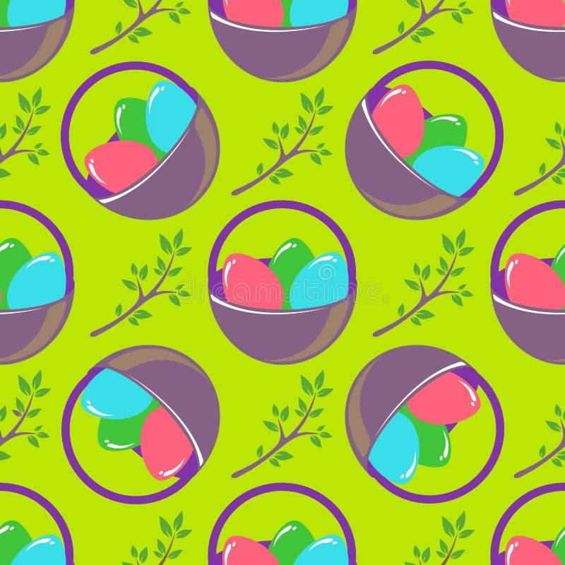 Huevos de Pascua ilustración del vector