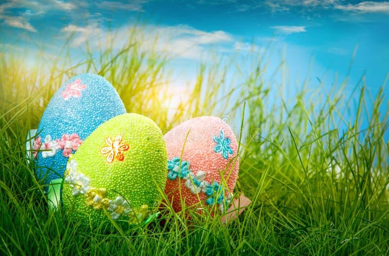 Huevos de Pascua adornados fotografía de archivo libre de regalías