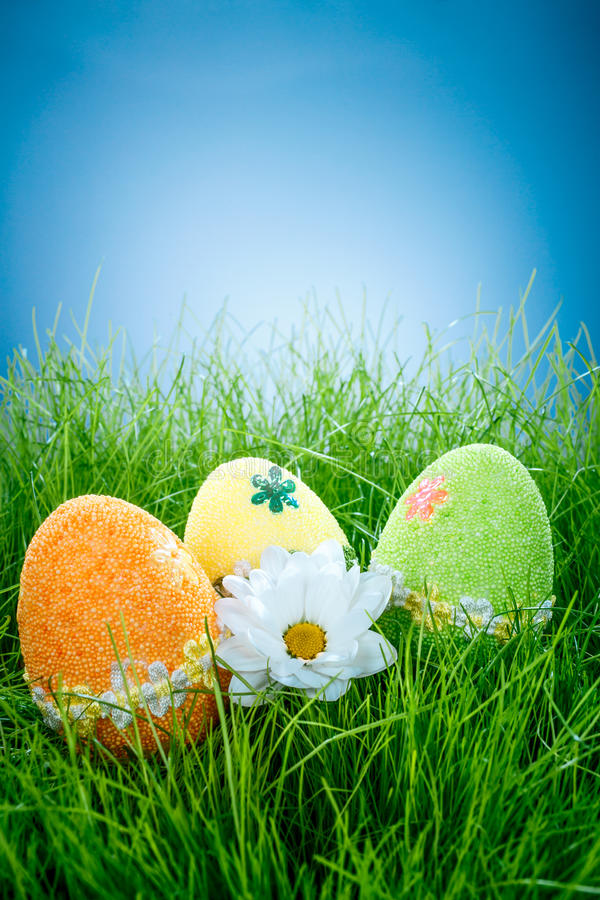 Huevos de Pascua adornados foto de archivo