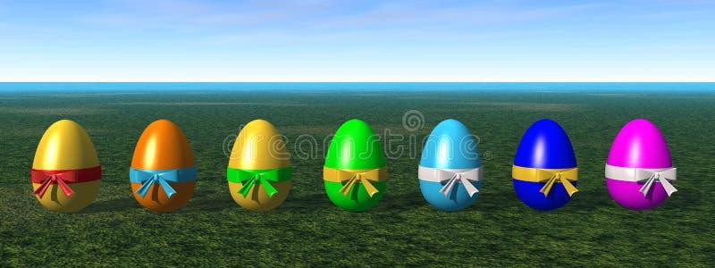 Huevos de Pascua coloreados ilustración del vector