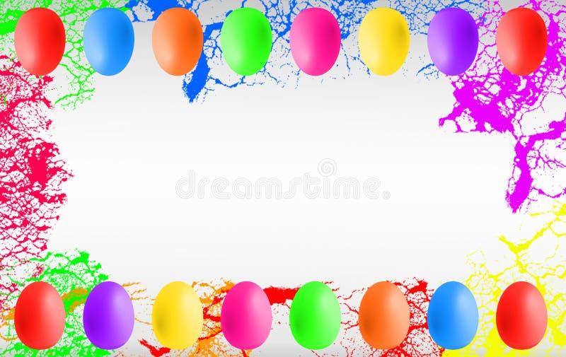 Huevos de Pascua coloridos con el copyspace ilustración del vector