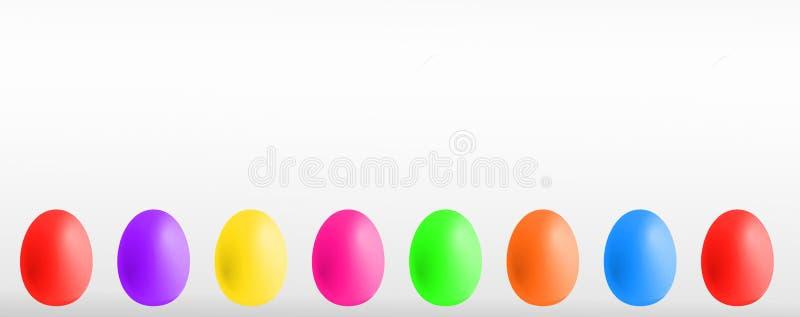 Huevos de Pascua coloridos con el copyspace libre illustration