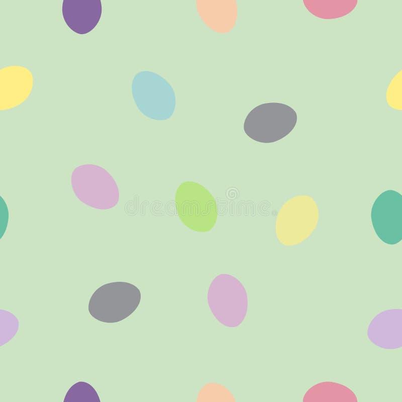 Huevos de Pascua coloridos del modelo inconsútil en el verde, vector EPS 10 ilustración del vector
